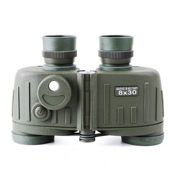 HD 8X30 General Tactical Binoculars Rangefinder Compass telescope binocular with Army binoculars waterproof compass for Hunting