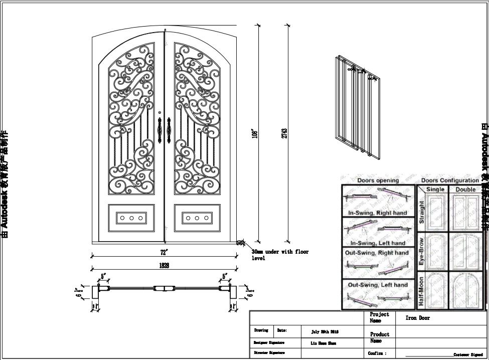 Wholesale Iron Doors Cheap Wrought Iron Doors