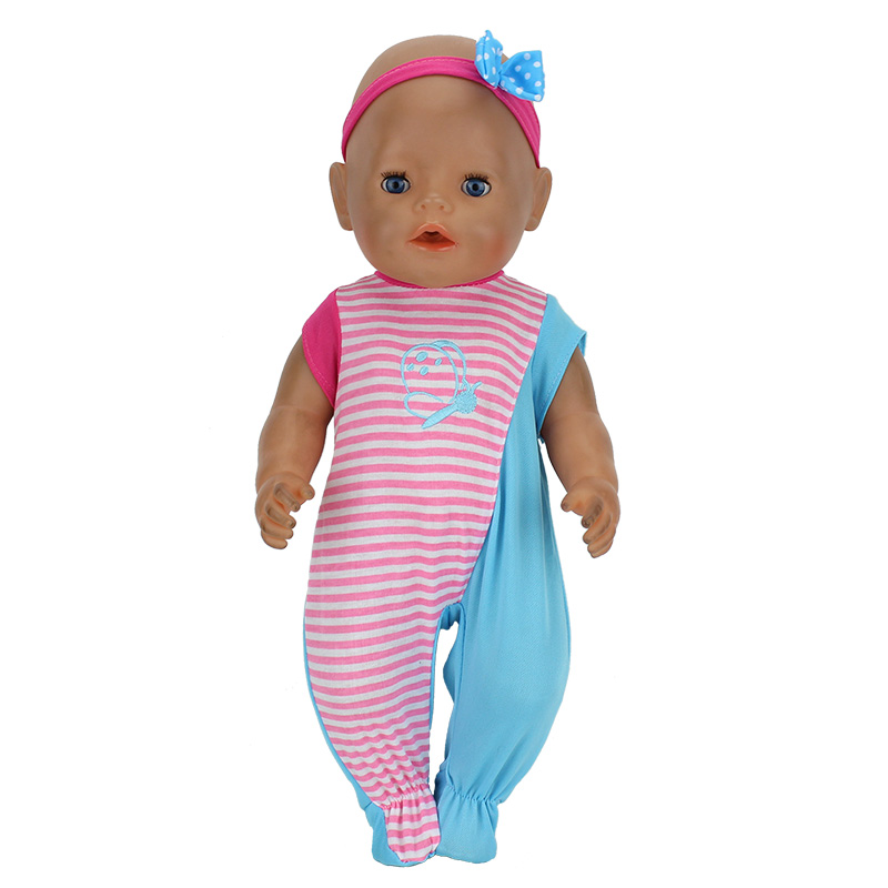 New Arrivals Dolls Suits Fit For 43cm Baby Born Zapf Doll Reborn Baby Clothes 17inch Doll Accessories purple baby born doll dress clothes fit 43cm baby born zapf or 17inch doll accessories handmade fashion party skirt 015