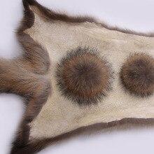 50 шт./лот, 13-22 см, помпоны из натурального меха енота, меховые шарики из цельной кожи для шапочки, брелки, шарфы, обувь, помпоны из натурального меха