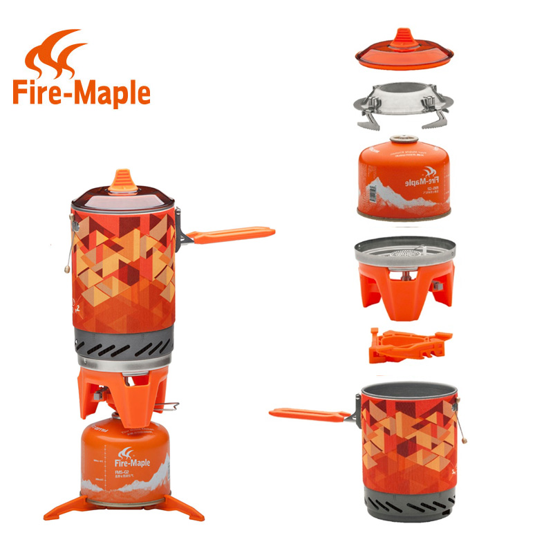 FMS X2 New Fire Maple compact One Piece Camping font b Stove b font Heat Exchanger