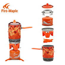 FMS-X2 Nuevo y compacto de Una sola Pieza de Arce Fuego Estufa de Camping Intercambiador de Calor Pot camping juego de equipos de Flash Personal de Cocina sistema