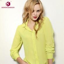 Sinofashion New Floral Long Sleeve Vintage Blouse Shirt Blusas Feminino Ladies Blouses Womens Tops Fashion