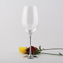 crystal 597ml drinking wine glasses with metal stem