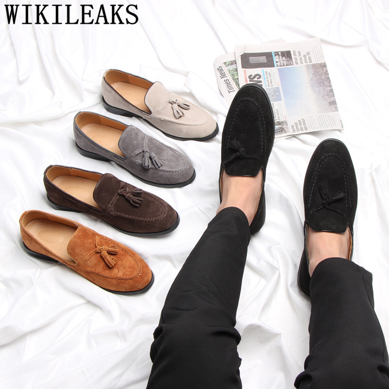 Formal Shoes Men Classic Loafers Men Business Shoes Sepatu Slip On Pria Mens Brown Shoes Wedding Dress Chaussure Homme Ayakkabi
