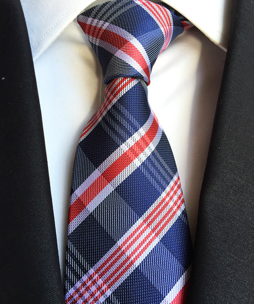 GENTS CLOBBER Classic Mens Stripe Silk Striped Work Necktie Formal Tie Red Black