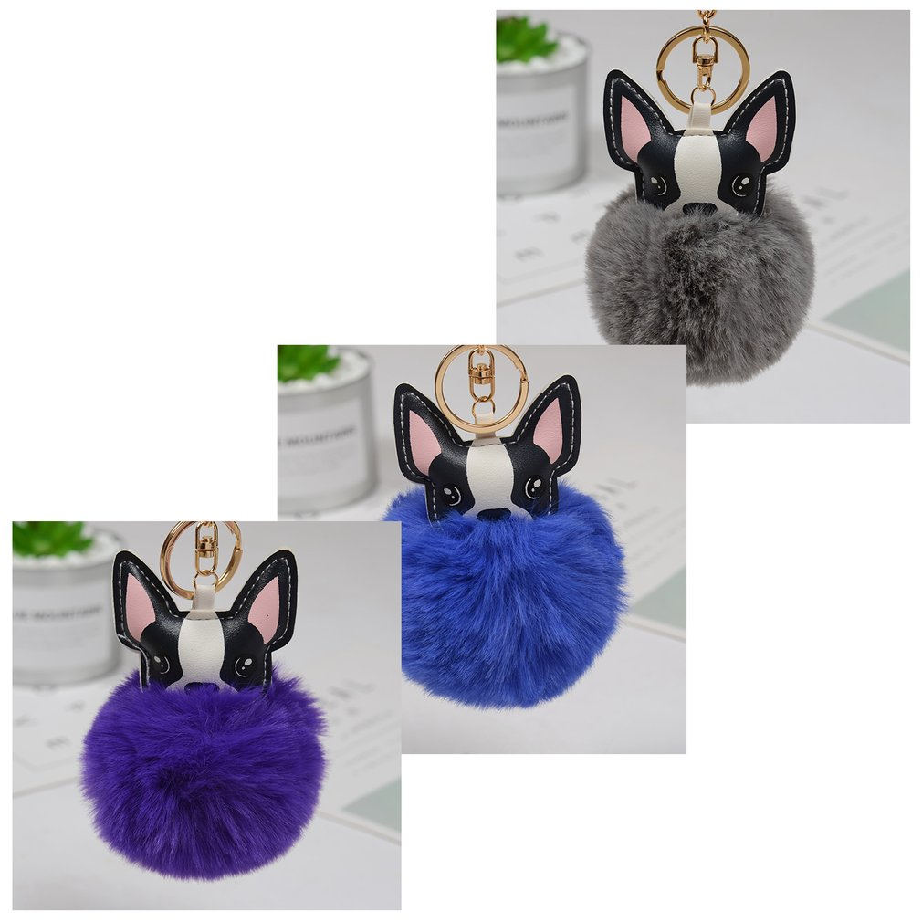 Collection Here Charming Lovely Dog Fur Ball Keychain Bag Plush Car Key Ring Charm Handbag Pendant Keyring Gift For Purse Cleaning The Oral Cavity.
