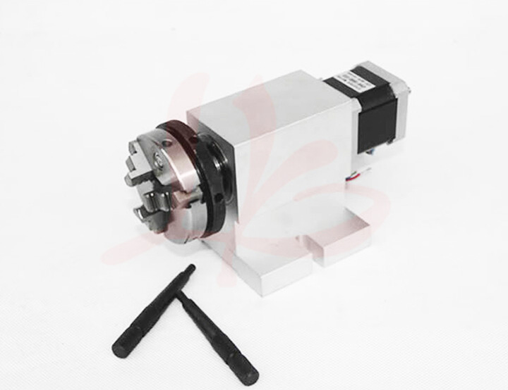 Rotary axis 11-50-50 50mm 3 jaw chuck for china cnc router 50