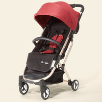 Super Light Baby Stroller Fold Ultra Compact Baby Pram Lightweight Comfort Folding Carriage Stroller with Straps