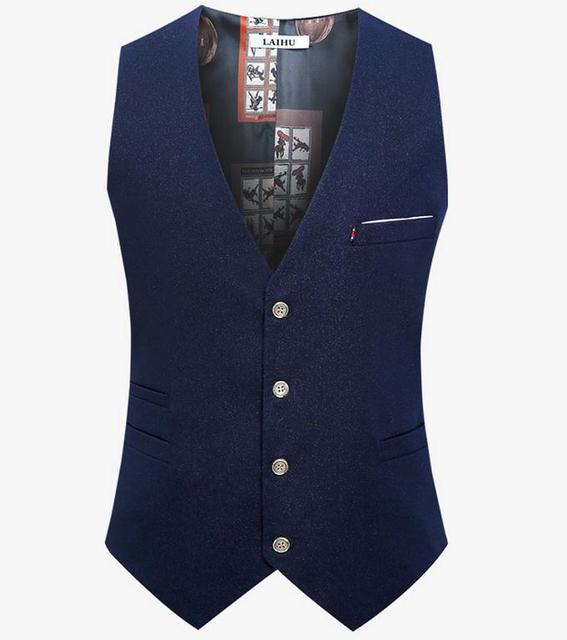 2016 New High quality Casual Mens Suit Vest Coat Slim Fit Waistcoat Man England Style Dress Vest