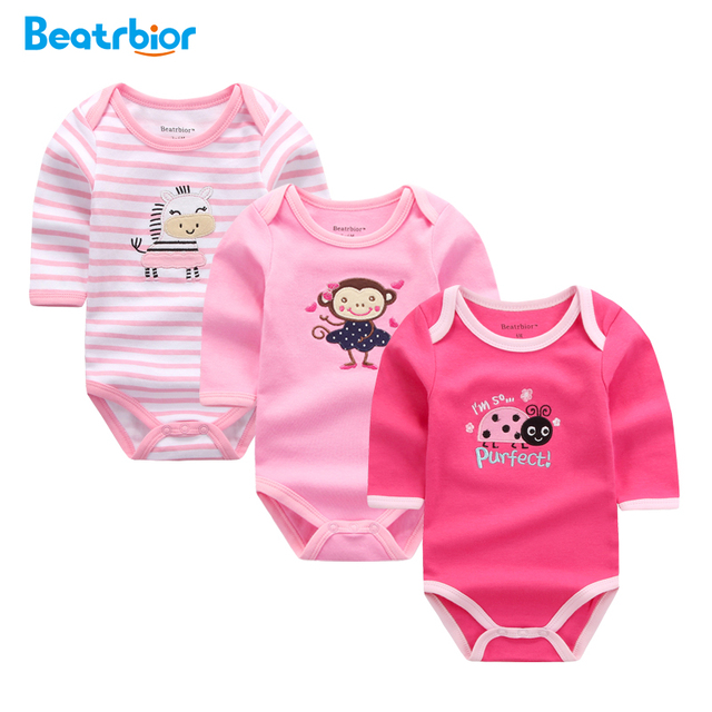 35ee708b1 Beatrbior Baby Girl Clothes Newborn Baby Rompers 100% Cotton Infant ...