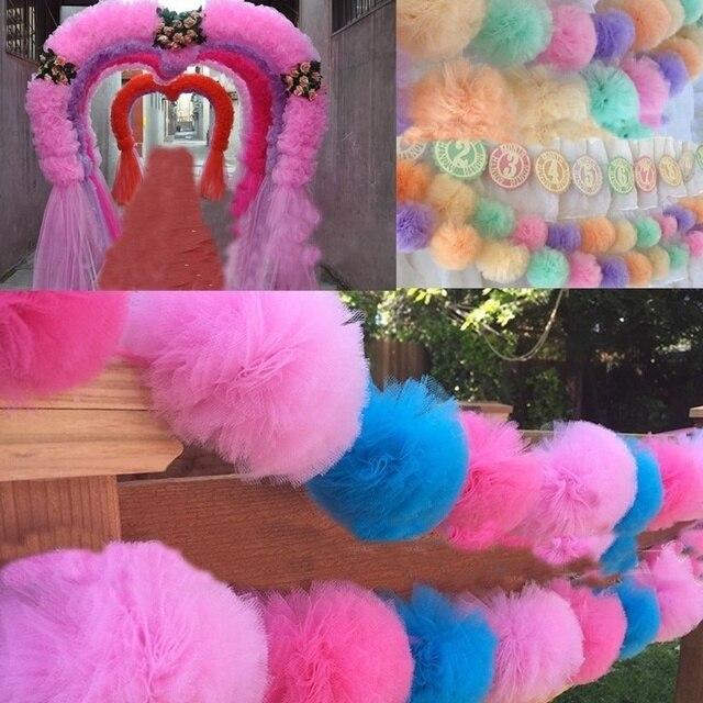 25 jardów 15cm tiulowa rolka Tutu tkanina dekoracje ślubne Organza Laser DIY rzemiosło Tutu miękkie Baby Shower materiały urodzinowe