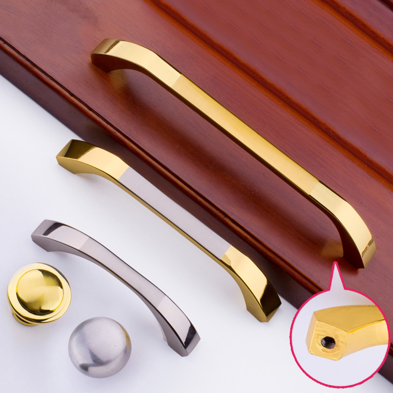 Simple Smooth Bright Silver Handles and Knobs Kitchen Cabinet Drawer Wardrobe Door Shoe Cabinet Solid Handle Pull furniture drawer handles wardrobe door handle and knobs cabinet kitchen hardware pull gold silver long hole spacing c c 96 224mm