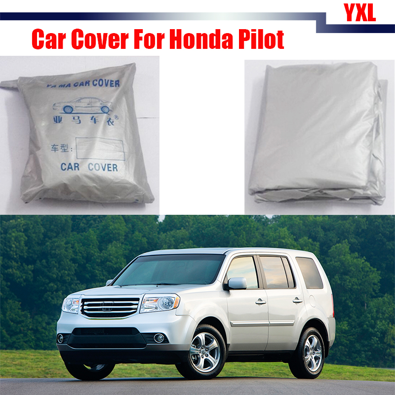 Cawanerl Outdoor Car Cover Anti UV Outdoor Snow Rain Resistant Cover Dustproof For Honda Pilot