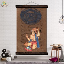 Hanuman Hindu God Art Modern Wall Print Picture And Poster Frame Hanging Scroll Canvas Painting For Home Decor