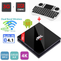 H96 Pro + Android Tv Box 4 K 2 K Amlogic S912 Octa núcleo 3 GB 32 GB Android 6.0 Tv Box Dupla WiFi BT4.1 HDMI 2.0 1000 M LAN + I8 Keyboard