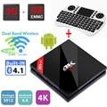H96 Pro+ Android Tv Box 4K 2K Amlogic S912 Octa core 3GB 32GB Android 6.0 Tv Box Dual WiFi BT4.1 HDMI 2.0 1000M LAN +I8 Keyboard