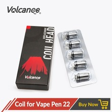 цена на Volcanee 5pcs Vape Pen Coil 0.15ohm 0.3ohm Core for Vape Pen 22 Kit Electronic Cigarette Vaporizer Atomizer Vaper Heating Coils