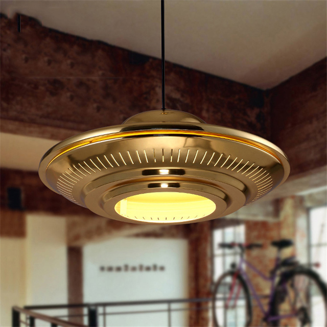 Contemporary Dining Room Pendant Lighting Decoration aliexpress : buy nordic contemporary gold ufo dining room