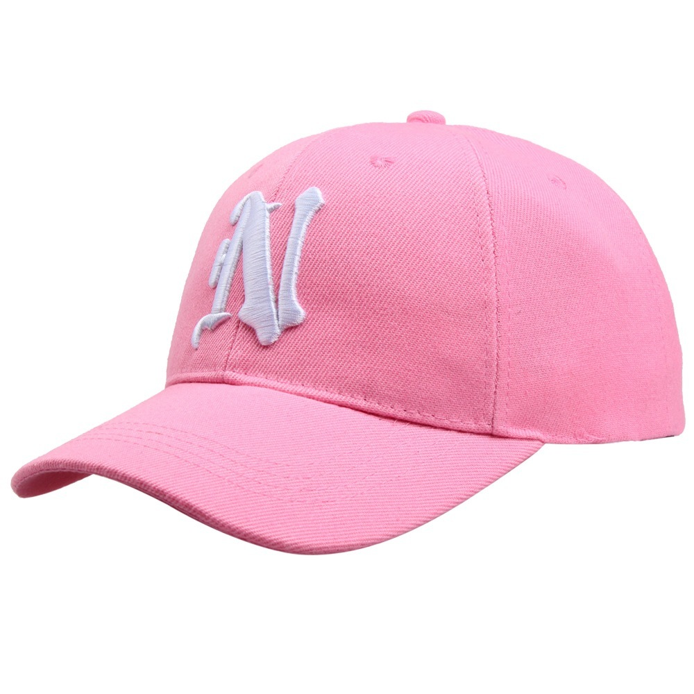 1Piece Baseball Cap Solid color leisure hats with N letter ...