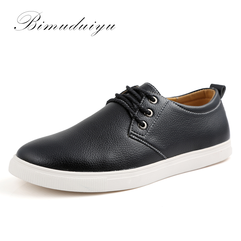 BIMUDUIYU Spring Autumn New Casual Mens Shoes Breathable Comfort Super Soft Flat Shoes men Large Size 38-49 Chaussure Homme ...
