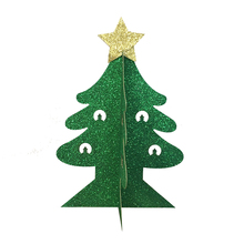 1pcs Green christmas tree Cupcake Toppers Party Cake Decors DIY Christmas Tree