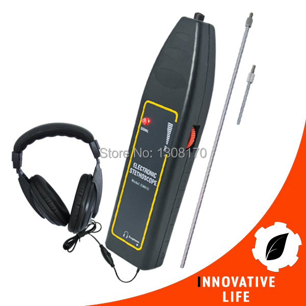 Electronic Stethoscope 100Hz~10kHz with High Sensitivity Long & Short probe + Earphone Car Truck Automotive Noise Sensor Finder tp760 765 hz d7 0 1221a