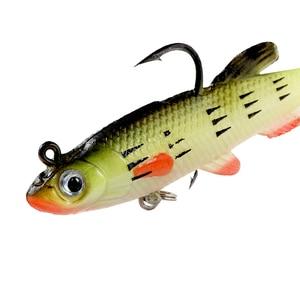 Image 5 - SUNMILE 5pc Fishing Soft Lure Lead Head Jig 85mm/12.5g Artificial Baits Swimbaits Wobbler Leurre Souple Lure for Pike Bass Perch