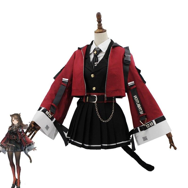 Новая игра Arknights! SkyFire TEXAS косплей костюм женское милое платье Хэллоуин Карнавальная форма индивидуальный заказ полный комплект