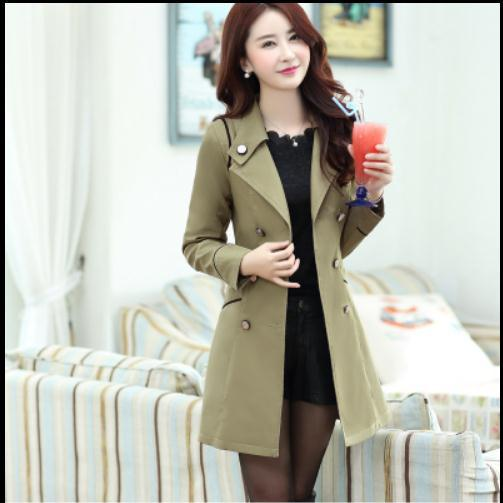 40271b6ead US $61.16 |Autumn Casacos Femininos 2016 Long Elegent Trench Coat For Women  Long Retro Double Breasted Outwear Plus Size XXXL Overcoat Y756-in Trench  ...