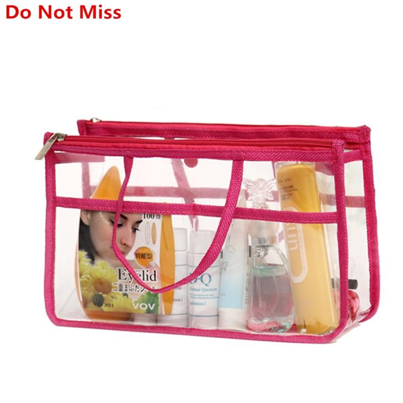 Damentaschen Zuversichtlich Verpassen Sie Nicht Transparent Wasserdichte Pvc Make-up Tasche Für Frauen Necessaries Kosmetiktasche Für Make-up Reise Veranstalter Kulturbeutel Fällen