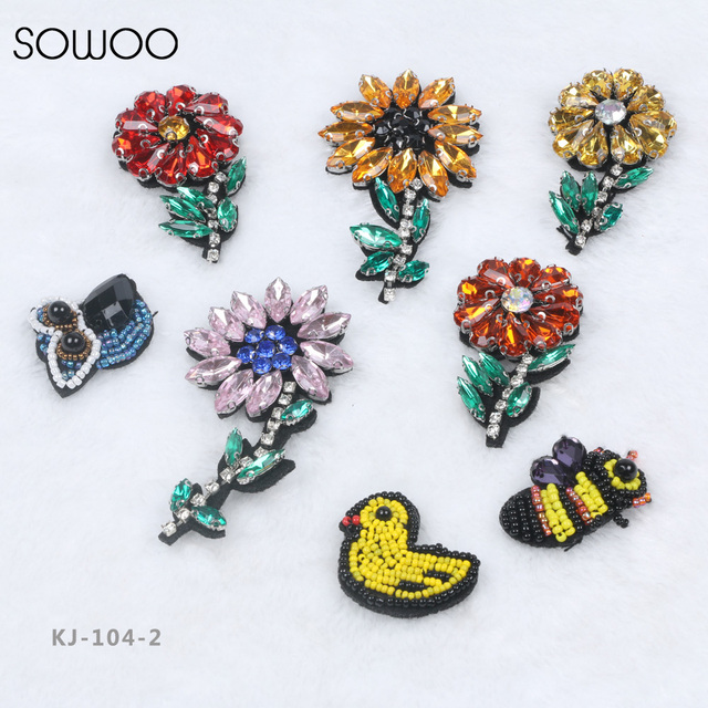 MIX Types 10pcslot Handmade Beads Flowers Sequin Costume Jewelry