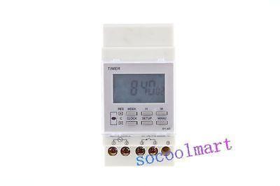 AC 220V 16A Din Rail Programmable Electronic Timer Switch XY-A5H