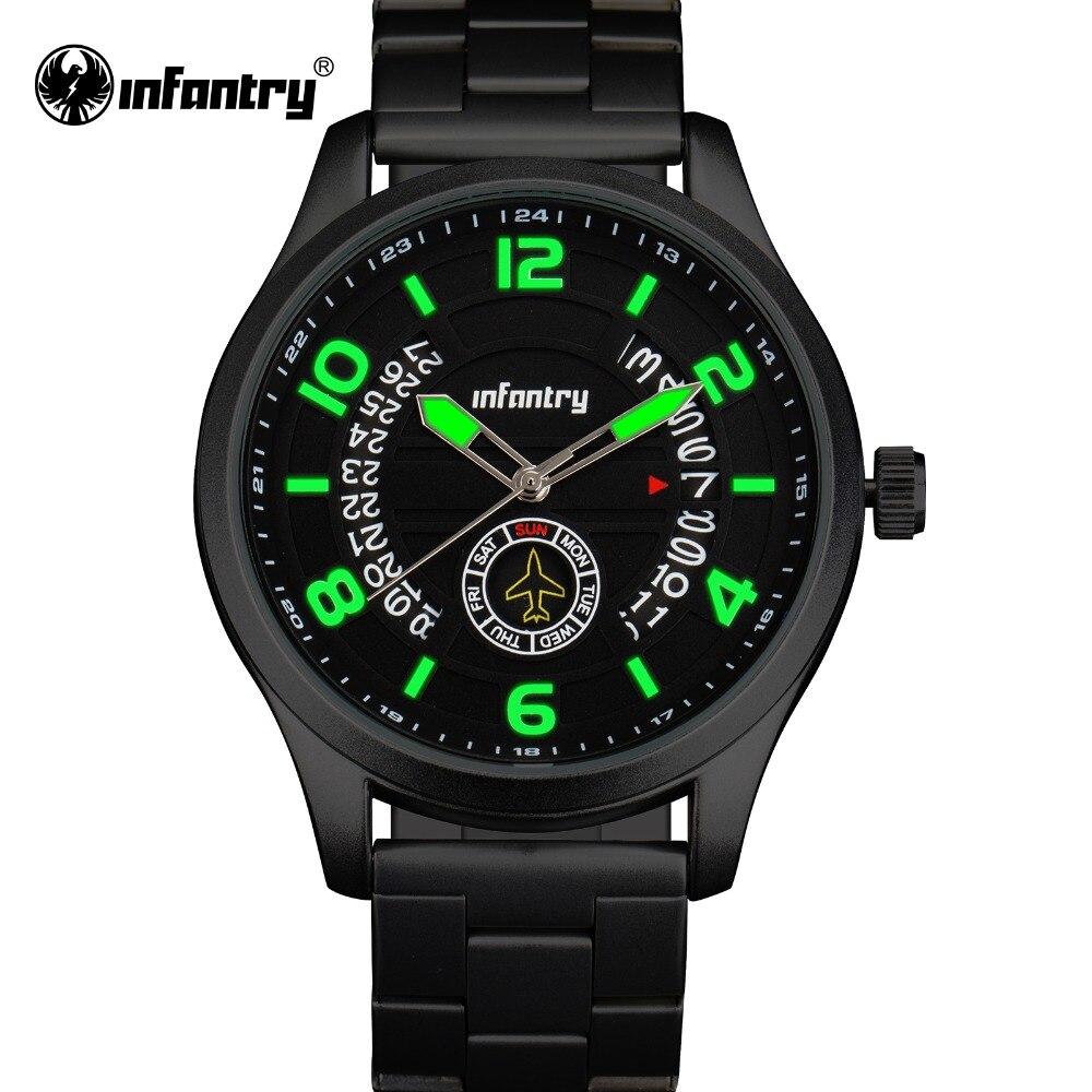 4d5c1f10600 Homens de INFANTARIA Relógios homens Auto Data Analógico Relógio Esportivo  de Luxo Da Marca Dos Homens Do Exército Militar de Quartzo Relógio de Pulso  ...