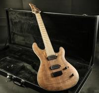 Stock High Quality 7 Strings Electric Guitar Neck Thru Body 5piece Wood Stain Finish 24F Locking Tuner Daddario Strings