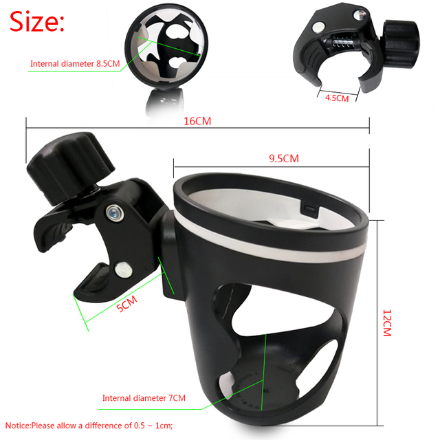 Baby Carriage Cup Holder Child bicycle Bike Cart Bottle Rack 360 Rotatable For Pushchair Buggy Stroller Accessories