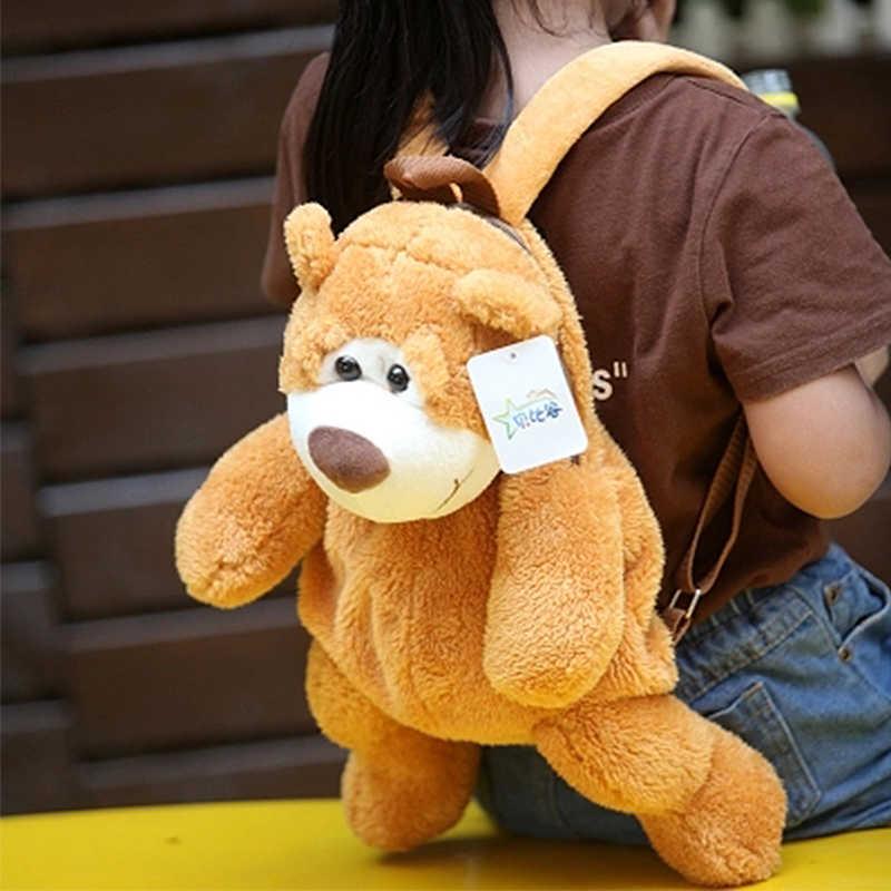 36CM regalos de Navidad para guardería Lindo bolso de escuela oso de peluche mochila para niños mochila de peluche juguetes