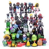 Hot Sale! New Popular Game PVZ Plants vs Zombies PVC Figures Collectible Model Toys Gifts 48pcs/lot