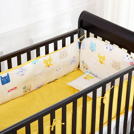 Promotion! 6PCS New Baby cot bedding Customize baby bedding bumper crib bedding set kit bed around (4bumpers+sheet+pillow cover) promotion 6pcs baby bedding set baby cot sets bed around pillow sheet bumper sheet pillow cover