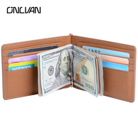 PU Leather Money Clip High Quality Money Clips Brown Black Color Unsexy Wallets Card Covers Retail