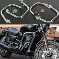 Black Chrome Engine Guard Crash Bar Protection For Harley Street 500 750 XG XG500 XG750 2015