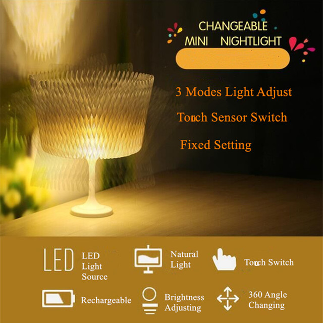 Creative rechargeable led folding table lamp energy saving natural creative rechargeable led folding table lamp energy saving natural light study desk lamps 3modes changeable paper mozeypictures Gallery