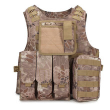 Men's Army Combat Molle Equipment Hunting Protection Camouflage Waistcoat Tactical Vest Military Unloading Airsoft Camo Vest(China)