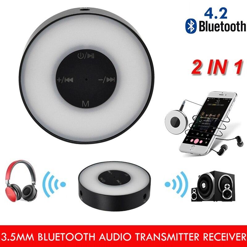 Funkadapter Besorgt 2 In 1 Adapter Bluetooth 4,2 Sender Empfänger Led Atem Licht 2,4 Ghz 3,5mm Aux Bluetooth Empfänger