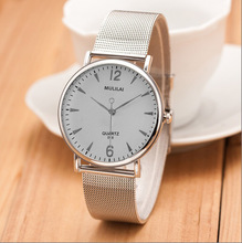 Фотография 2017 New Luxury Brand MULILAI fashion women Sports Watches Steel Mesh belt Casual Watches Men quartz Waterproof Wrist watch