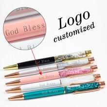 цены 1pc New Gold Foil Pens Metal Ballpoint Pens Office Birthday Gifts Ballpoint Pens Engraved Name Private Laser Customized Logo Pen