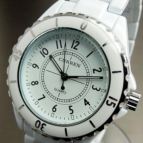 Prix pour Montre femmes Curren marque de luxe mode Casual quartz montres en céramique dame relojes mujer femmes montres fille robe horloge
