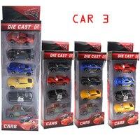 4PCS LOT Disney PIXAR Cars 3 JACKSON STORM Lightning McQueen Cruz Rusteze Toys For Children Birthday