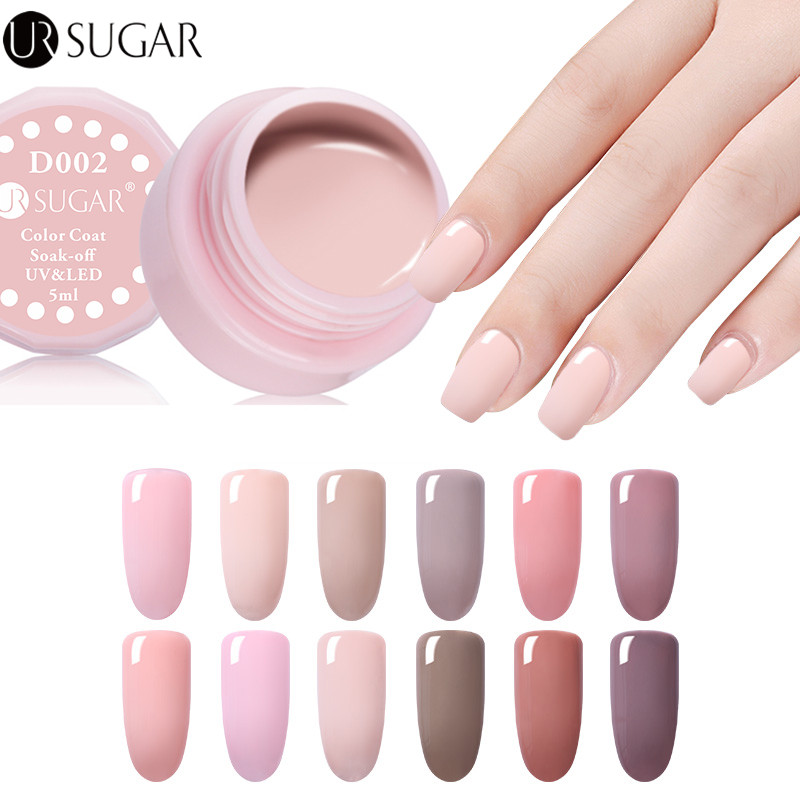 UR SUGAR Nude Color UV Gel Polish UV led Paint Gel Lacquer Soak Off LED Long Lasting Pure Colors Design Nail Gel Varnish