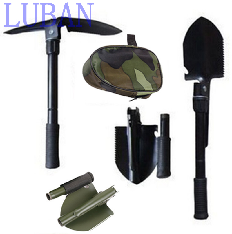Multi-function Camping Shovel Military Portable Folding shovel Survival Spade Trowel Dibble Pick Emergency Garden Outdoor Tool professional military tactical multifunction shovel outdoor camping survival folding portable spade tool equipment hunting edc